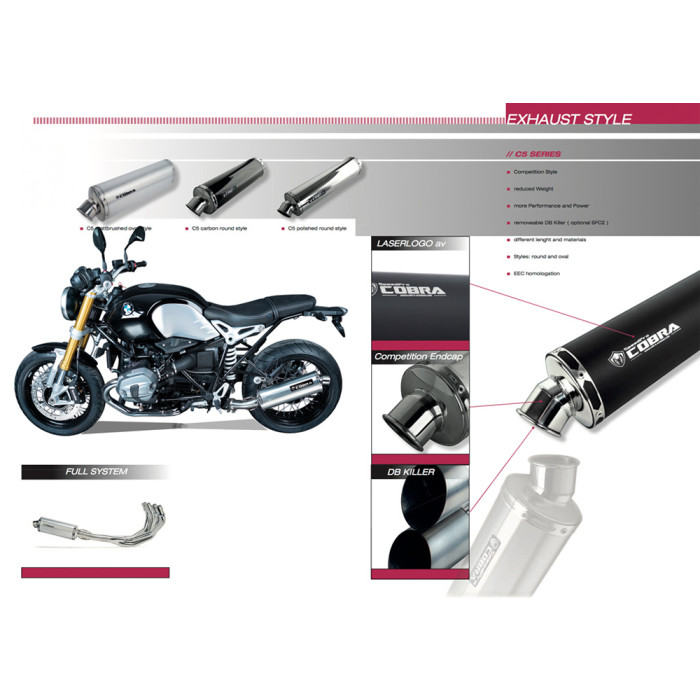 SPEEDPRO COBRA C5 Slip-on Dual Paar Yamaha XJ 600 S/N Diversion - Seca 2
