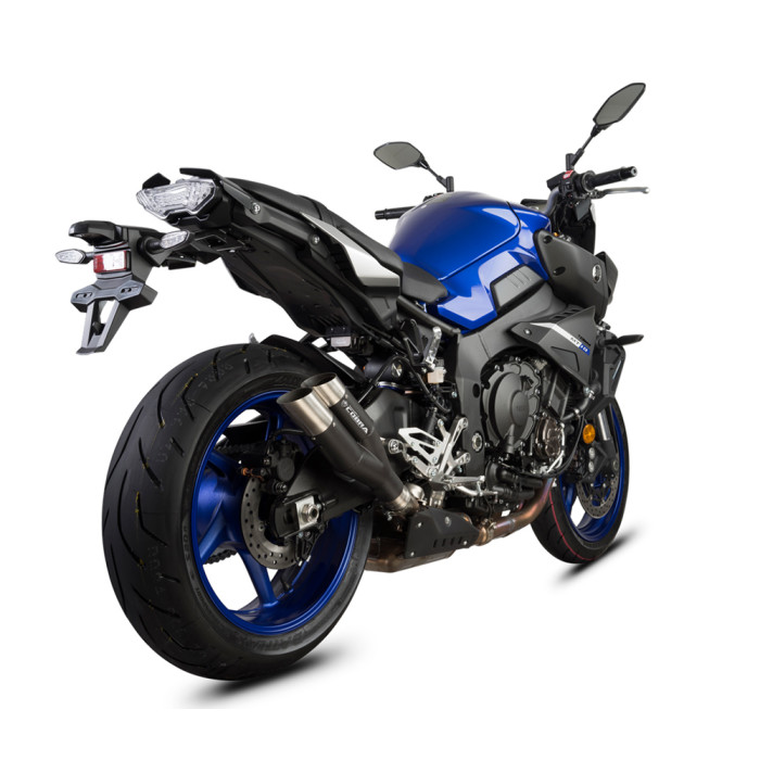 SPEEDPRO COBRA Hypershots MattBlack mit EG-ABE Slip-on Yamaha MT-10