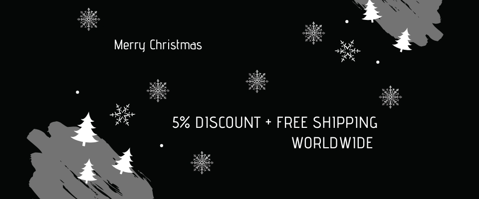 5% DISCOUNT AND FREE SHIPPING WORLDWIDE