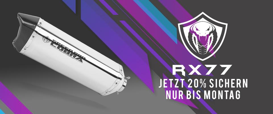 20% RABATT auf alle Cobra RX77 bis Montag